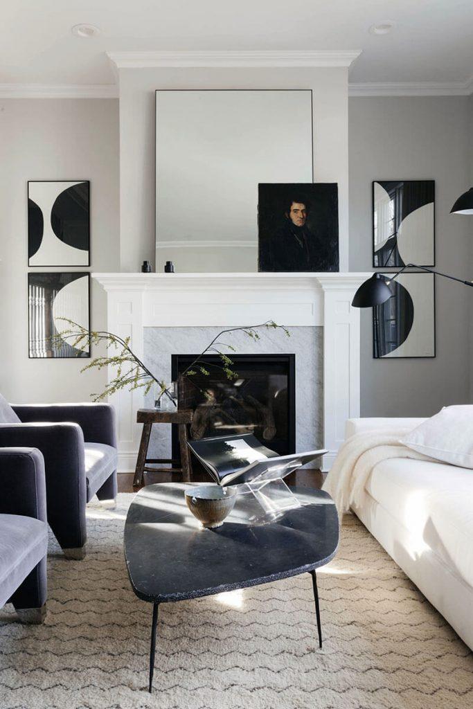 Comment Decorer Un Salon En Noir Blanc Frenchy Fancy