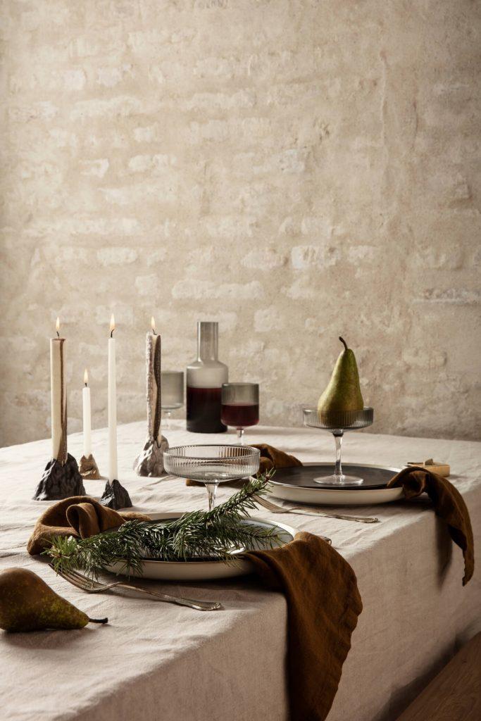 Idée de déco pour une table de Noël