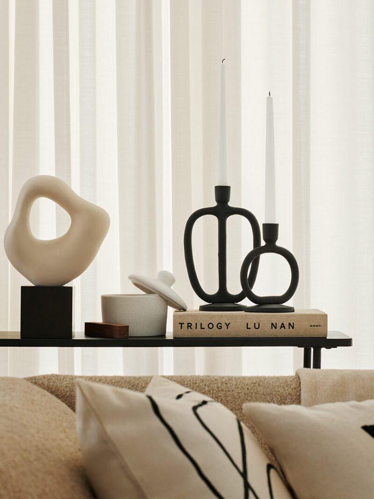 Décoration salon bougeoir sculpture abstraite H&M Home