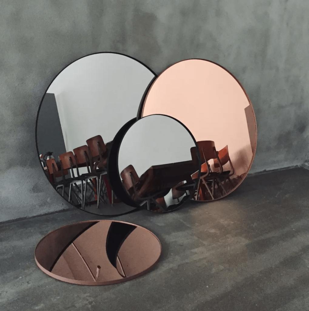 miroir teinté contemporain