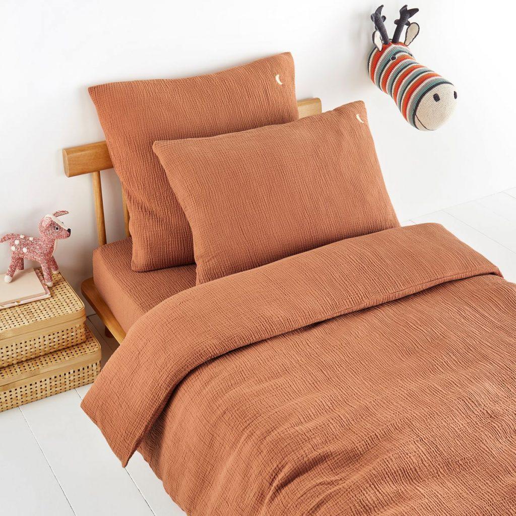 Linge de lit en gaze de coton