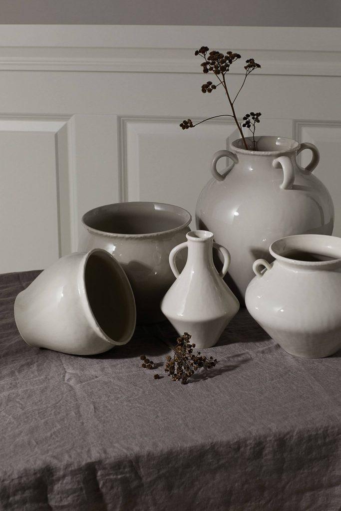 Vase en grès style amphore