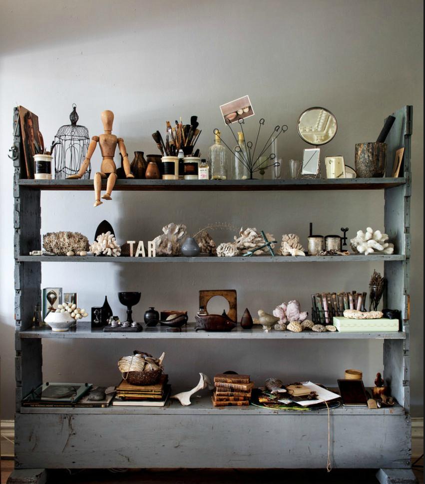 Décoration style Cabinet de Curiosités