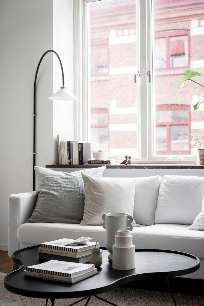 Canapé blanc déco scandinave