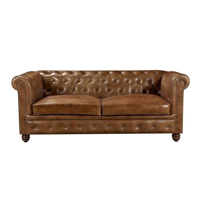 Canapé marron Chesterfield