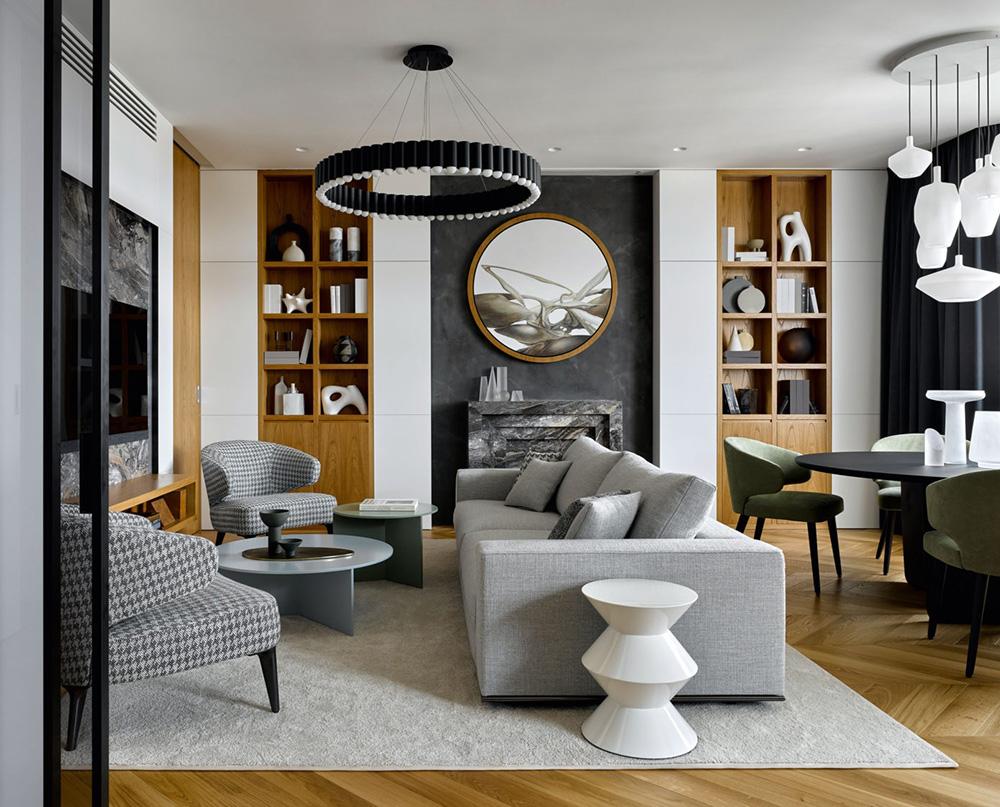Canapé gris moderne