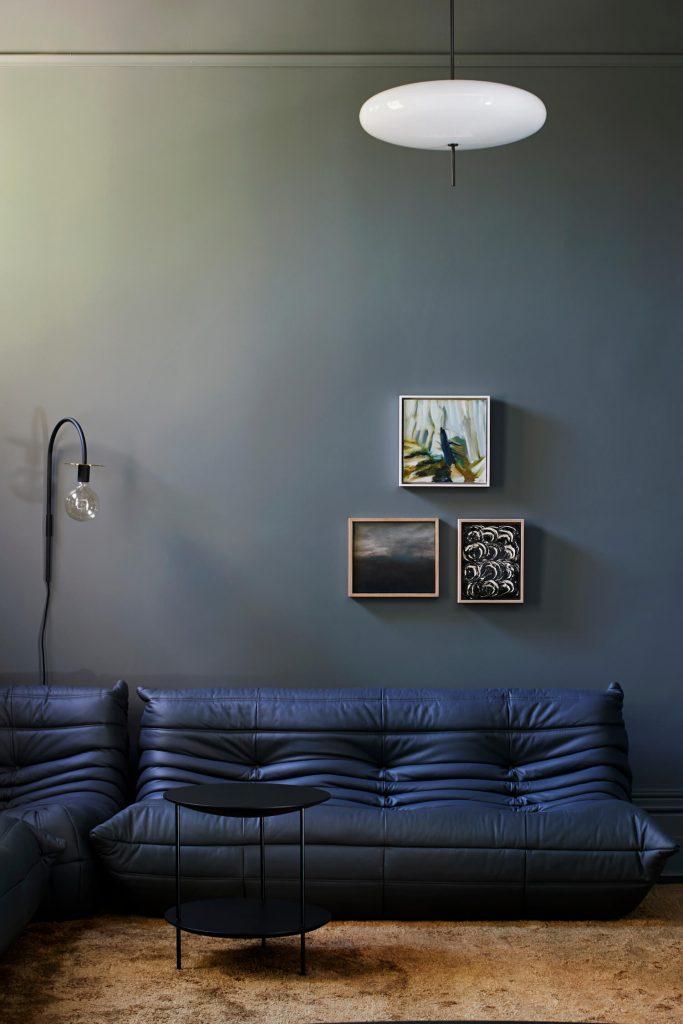 Togo cuir bleu