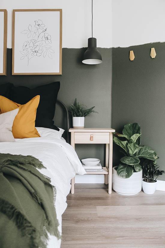 Décoration chambres vertes