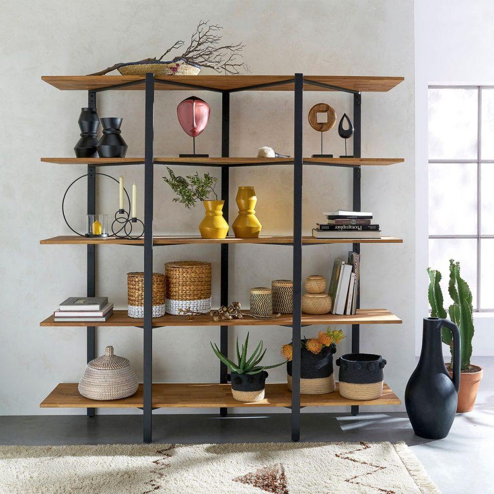 Étagère en bois et métal Hiba