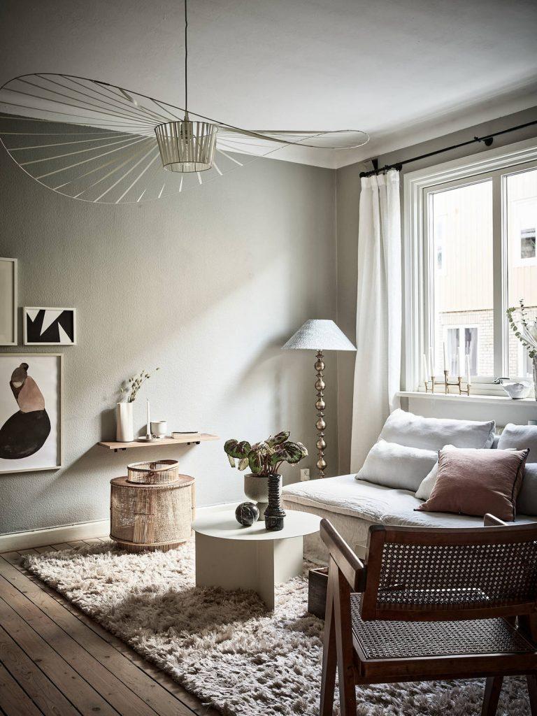 Suspension Vertigo blanche salon style scandinave