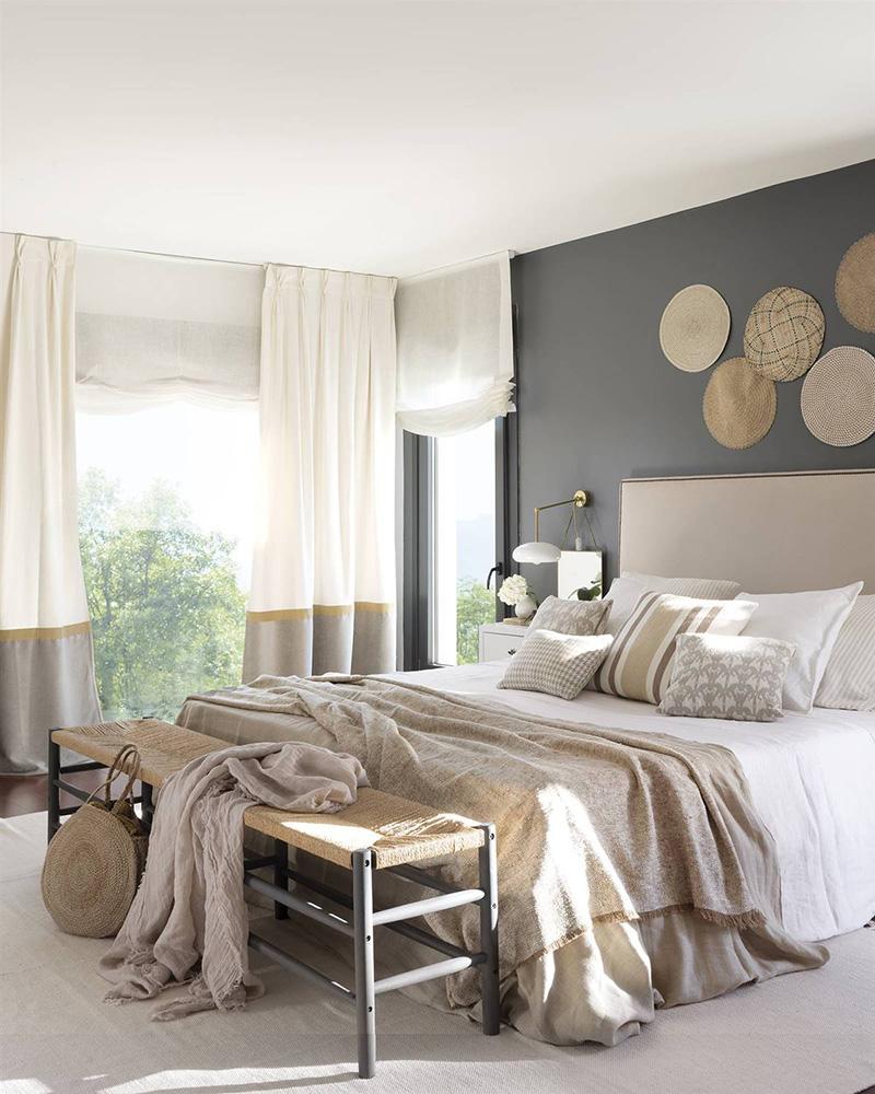 Tête de lit beige