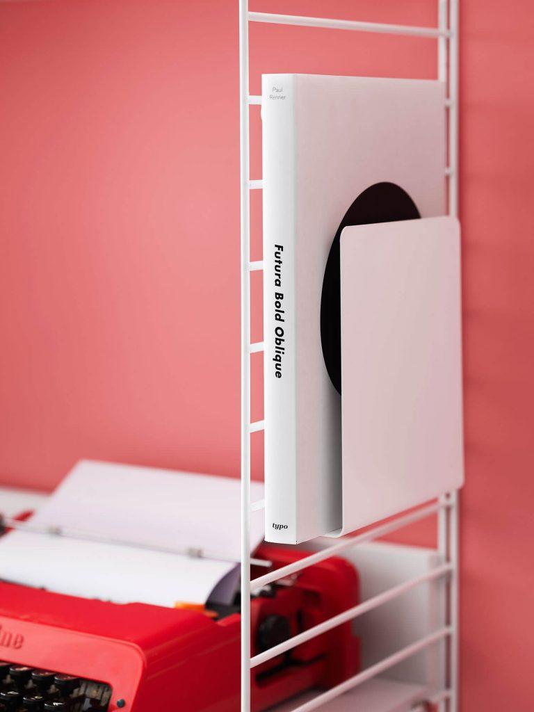 Bureau String bois clair et blanc