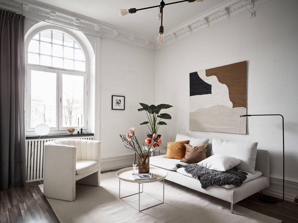 Canapé blanc IKEA