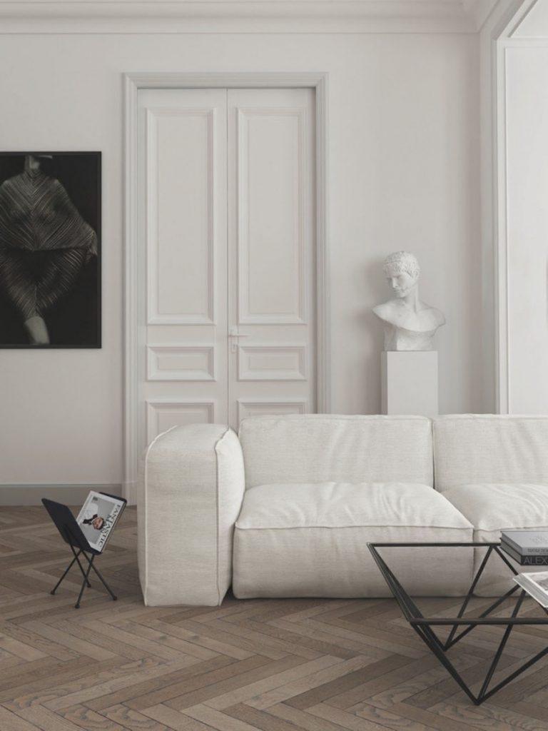 Canapé blanc moderne