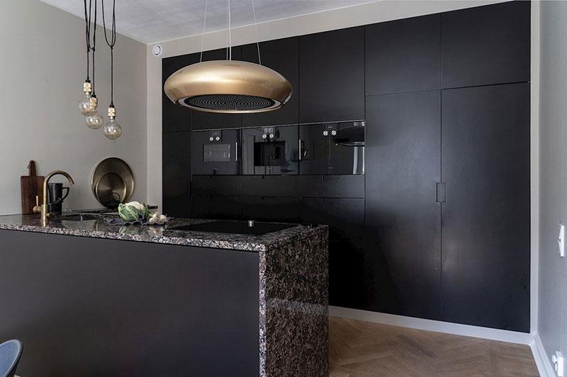 Cuisine noire minimaliste