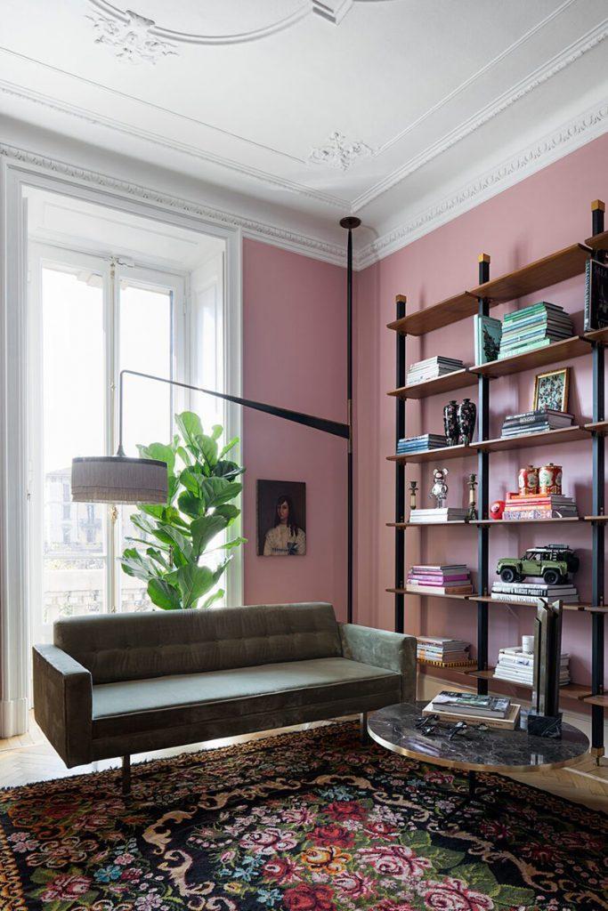 Décoration murs rose