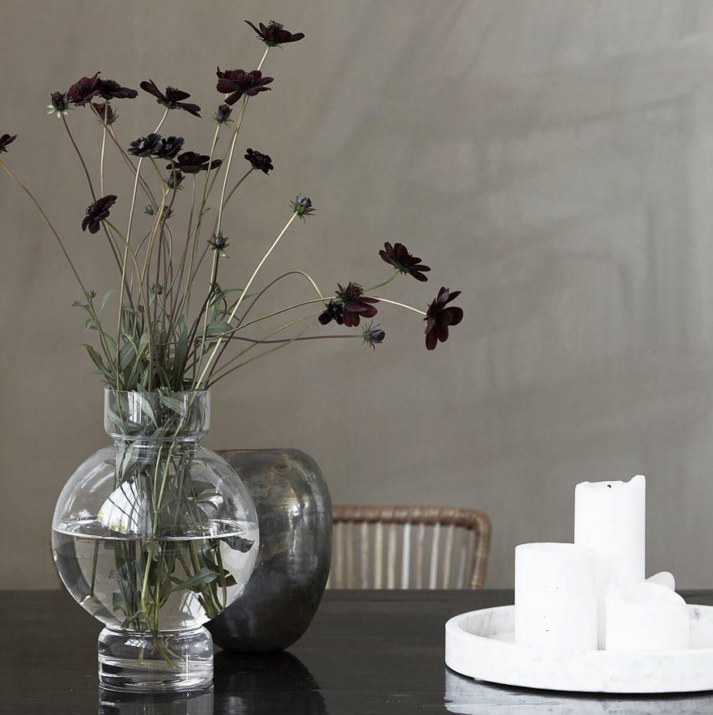 objets déco vase transparent