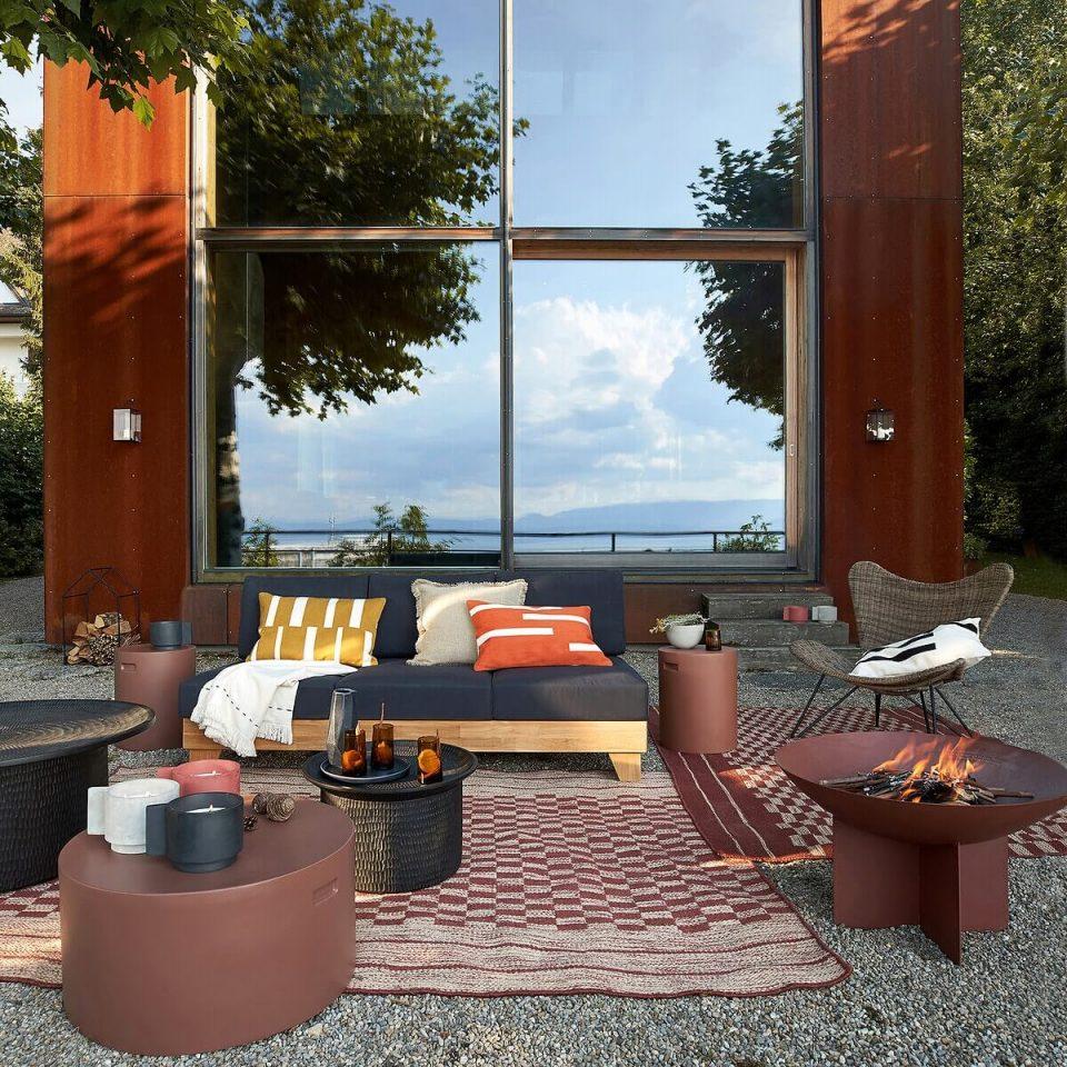Brasero moderne terrasse
