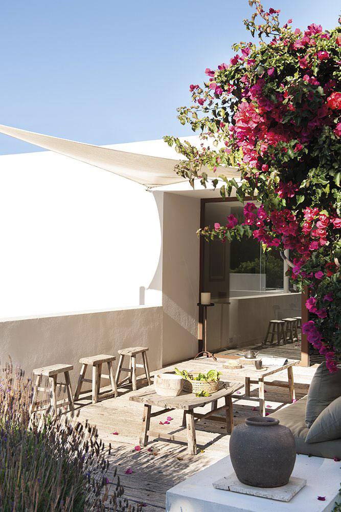 Aménagement terrasse style bohème