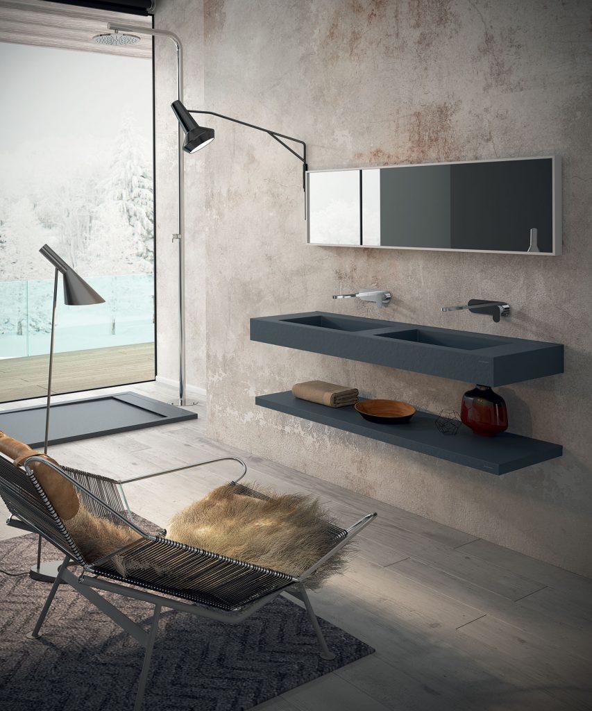 Murs en Tadelakt et meuble minimaliste