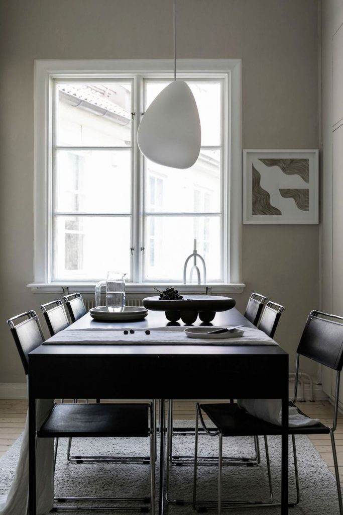 Salle à manger style scandinave