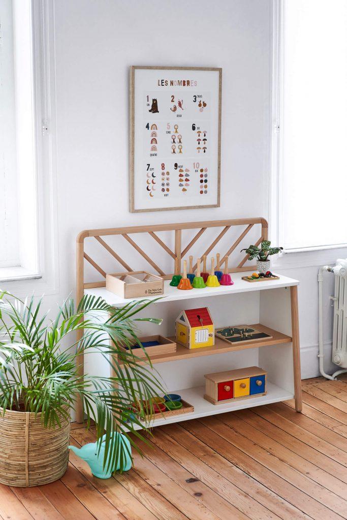 Étagère rangement Montessori