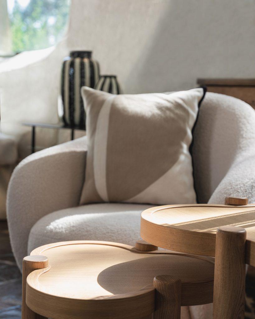 Déco salon avec table basse en chêne clair