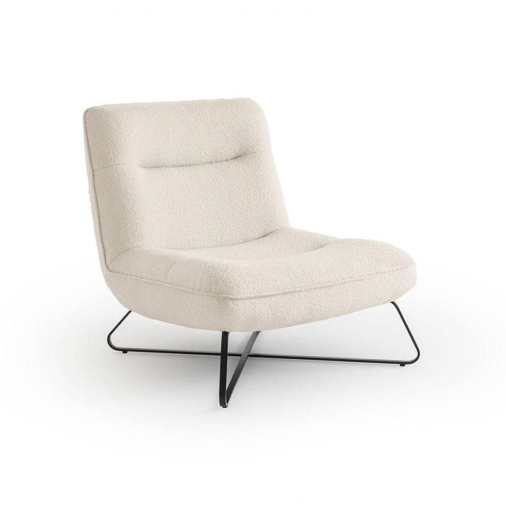 Le fauteuil en bouclette Helma, de chez AMPM