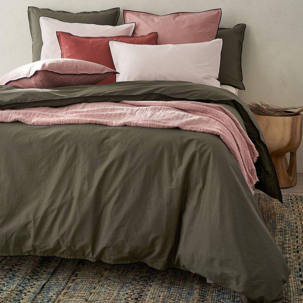 Linge de lit chambre cosy