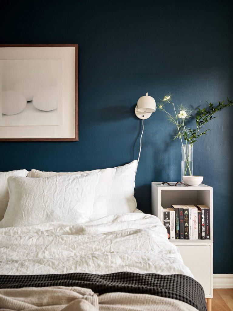 chambre bleue marine