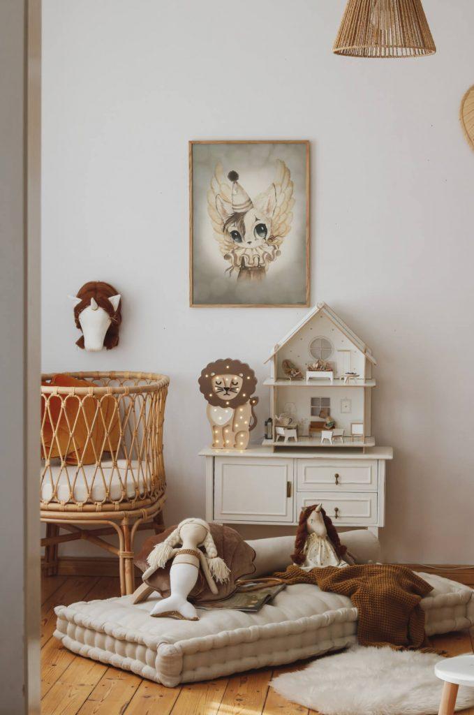 Déco style vintage chambre de bébé